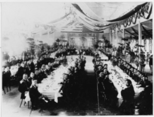 NH 53142: Officers attend banquet at Amoy, China.