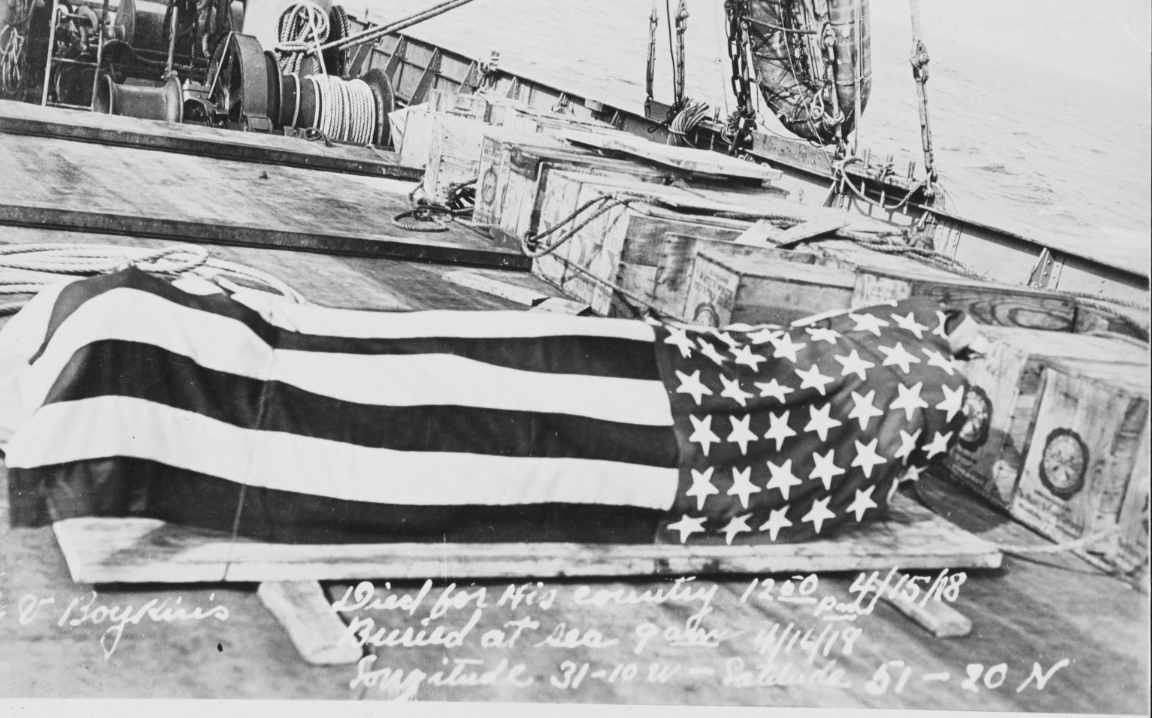 The body of Arthur Vester Boykin, Fireman 3rd Class, USN