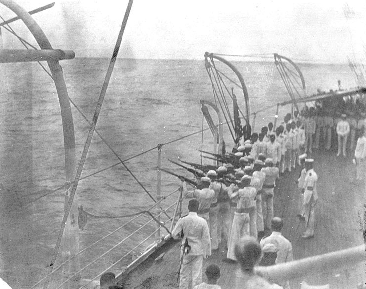 USS Maine Burial at Sea