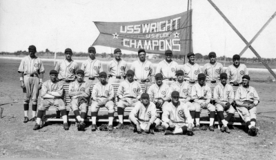 Baseball team from USS Wright (AZ-1)