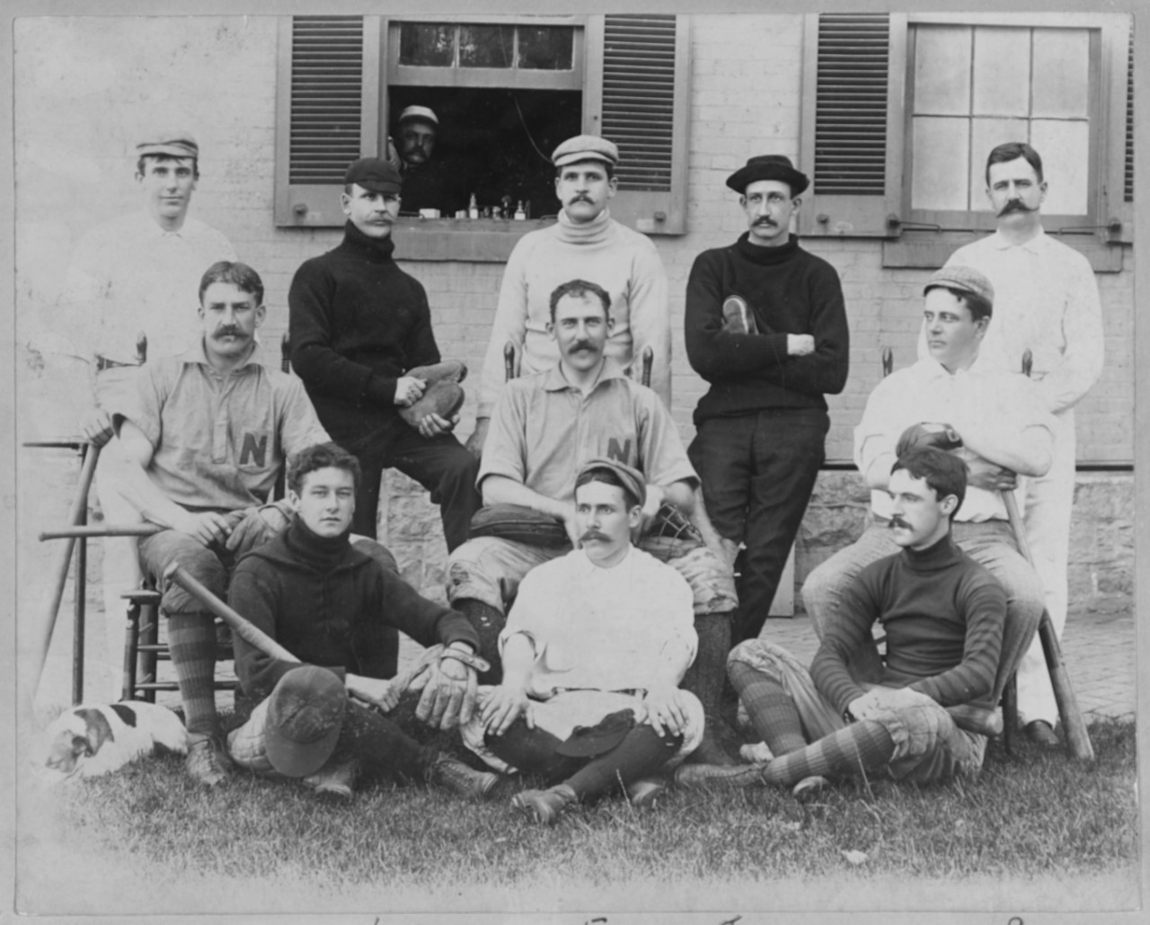 Photo #: NH 58843  Officers' Baseball Team, U.S. Naval Academy, Annapolis, Maryland