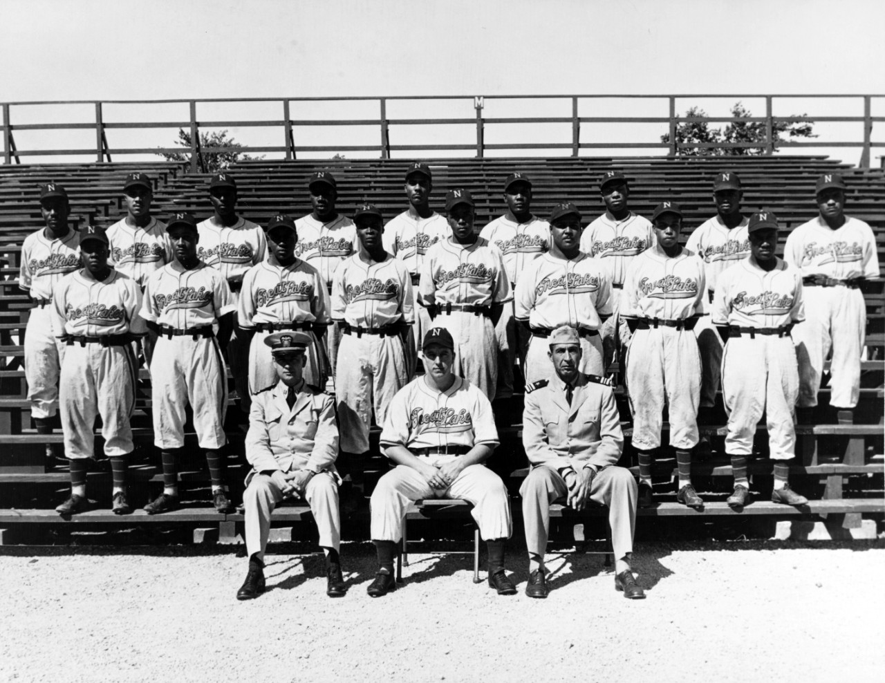 Great Lakes African Americans varsity baseball team, 1944