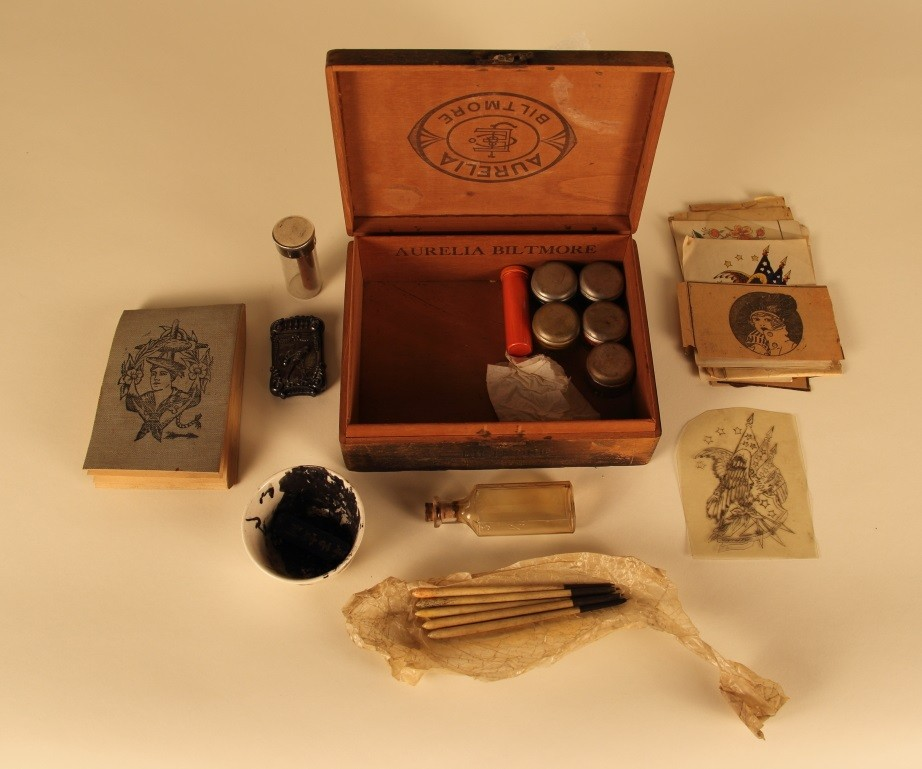 Sailor's tattoo kit, early 1900s.