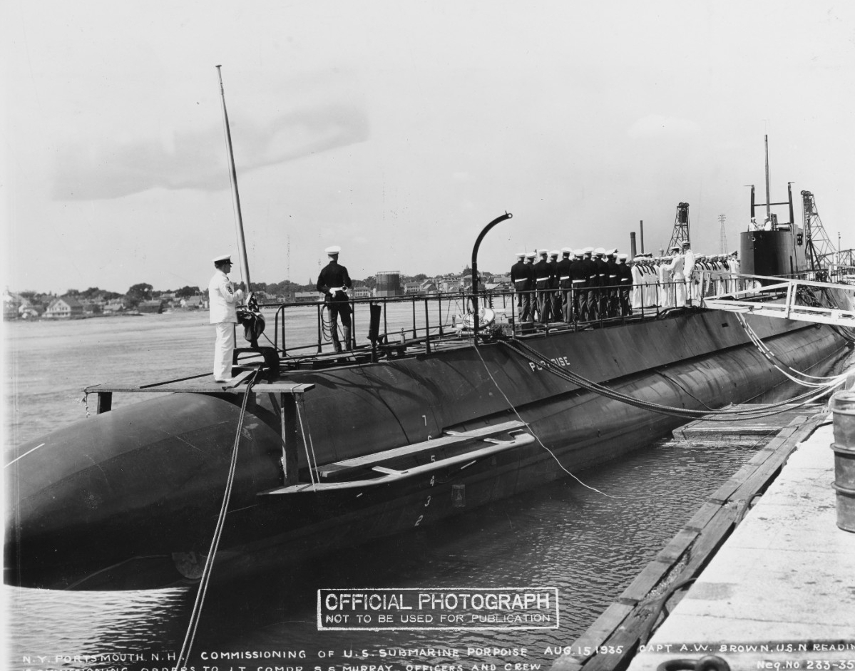 USS Porpoise (SS-172) commissioning ceremony