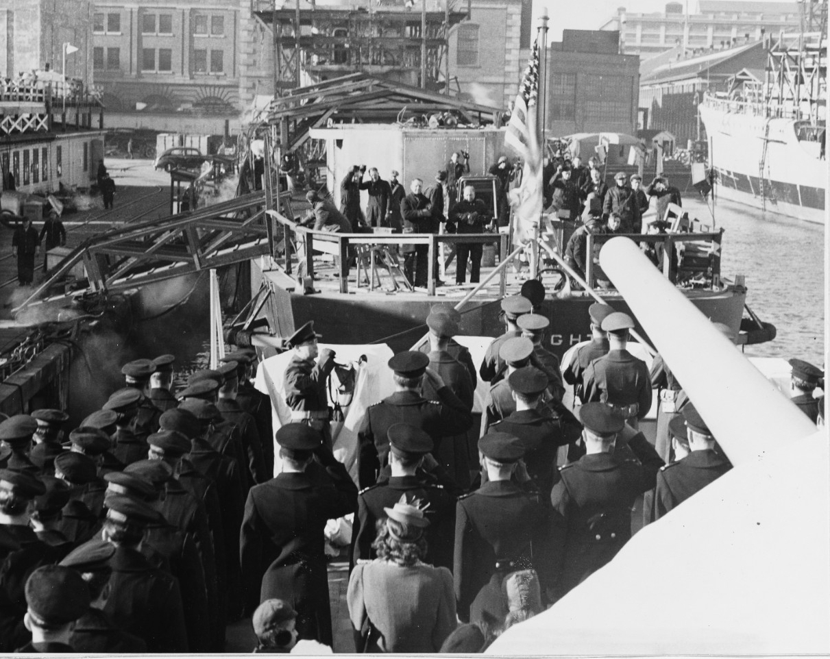 USS FITCH (DD-462), commissioning
