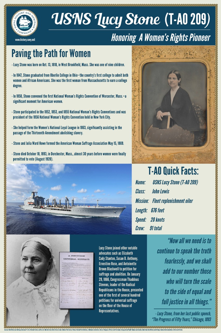 This infographic honors women's rights pioneer, Lucy Stone