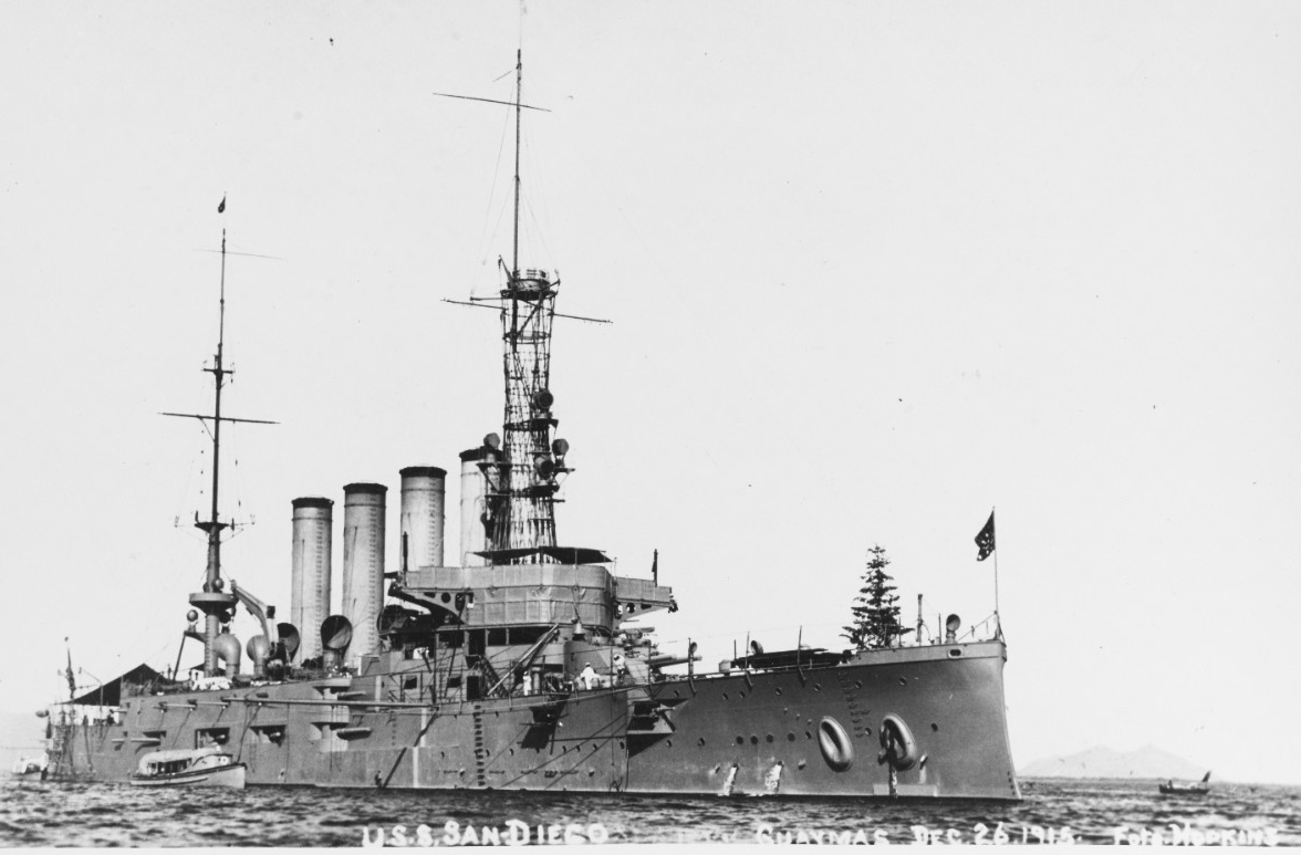 Photo #: NH 92174  USS San Diego (Armored Cruiser No. 6)