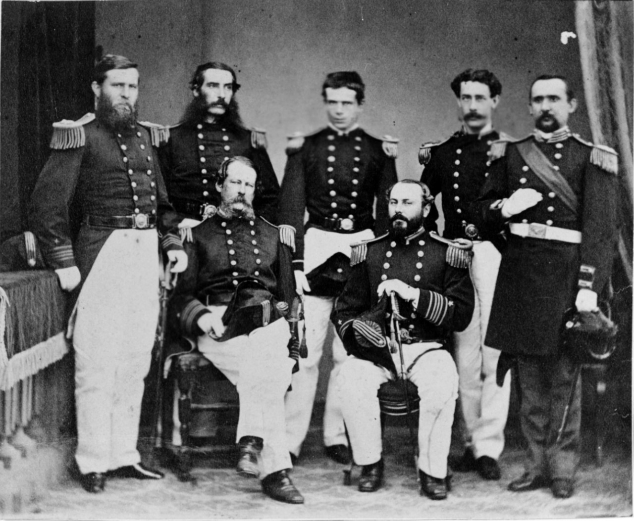 Photo #: NH 52769  Group of U.S. Navy and Marine Corps Officers, circa 1866-1867 Note: