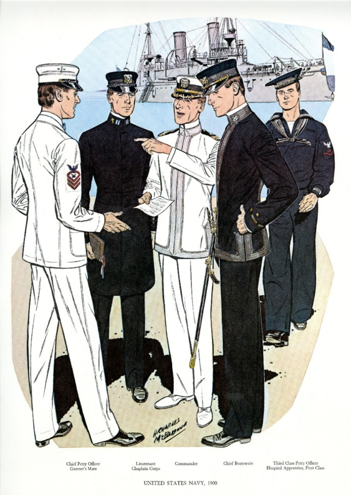 Uniforms of the U.S. Navy 1900