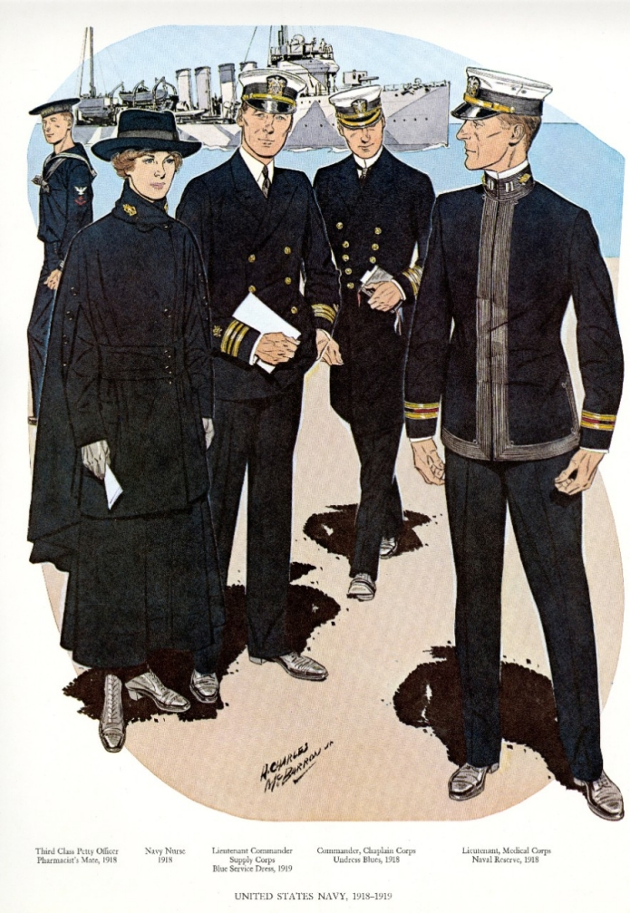 Uniforms of the U.S. Navy 1918-1919