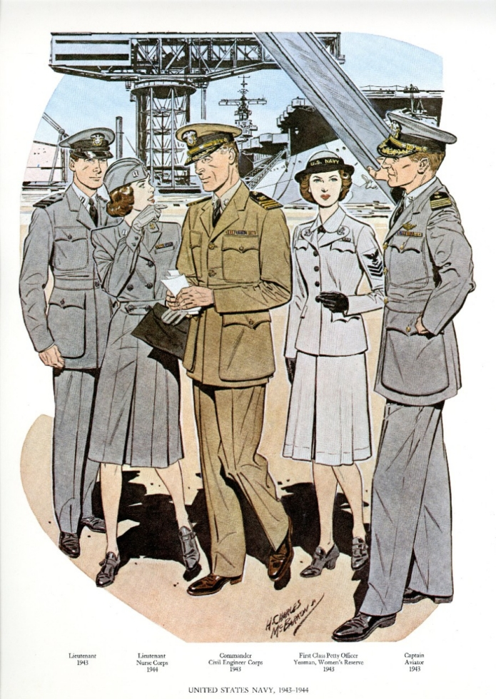 Uniforms of the U.S. Navy 1943-1944