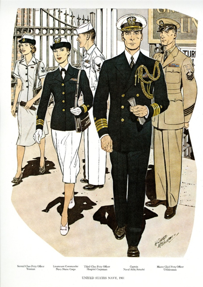 Uniforms of the U.S. Navy 1961