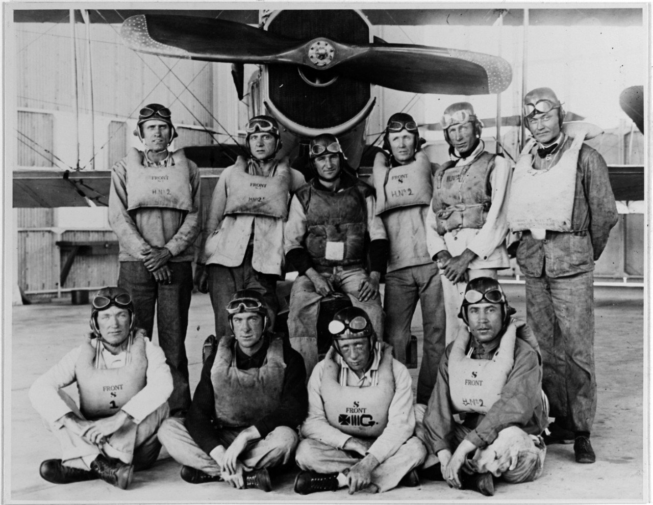 First class of enlisted flyers, 21 March 1917, Pensacola, Florida