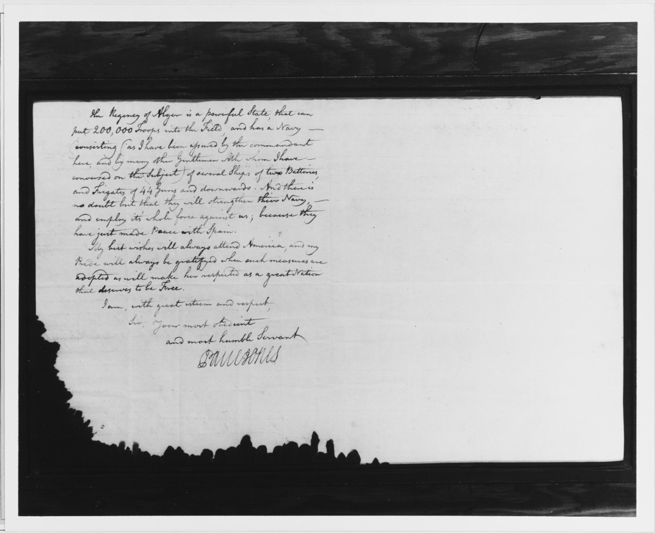 Letter from John Paul Jones to John Jay, 1785