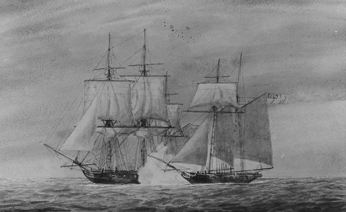 The American Clipper USS ROSSIE and the PRINCESS AMELIA, 16 September 1812