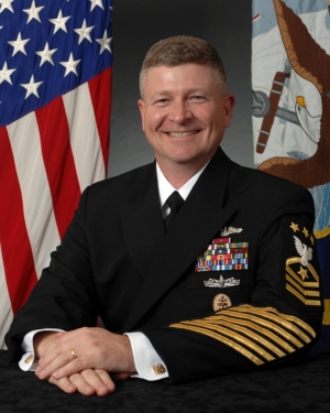 Portrait of MCPON Rick D. West