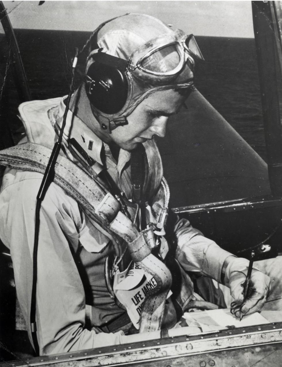 Bush in Avenger Cockpit