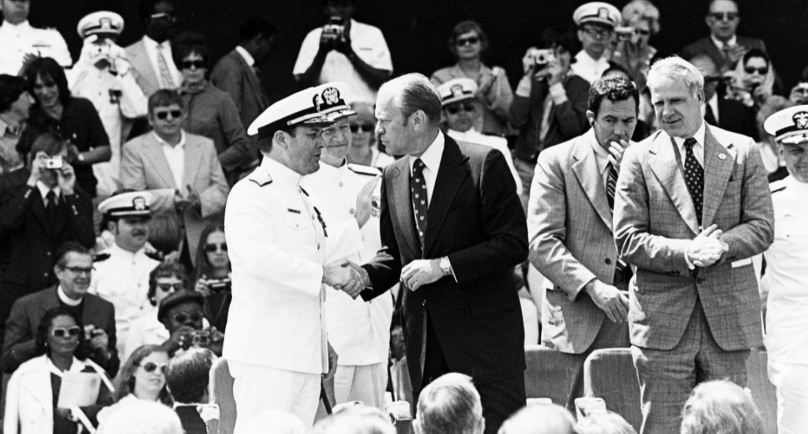 Admiral James L. Holloway, III, USN, Chief of Naval Operations President Gerald R. Ford