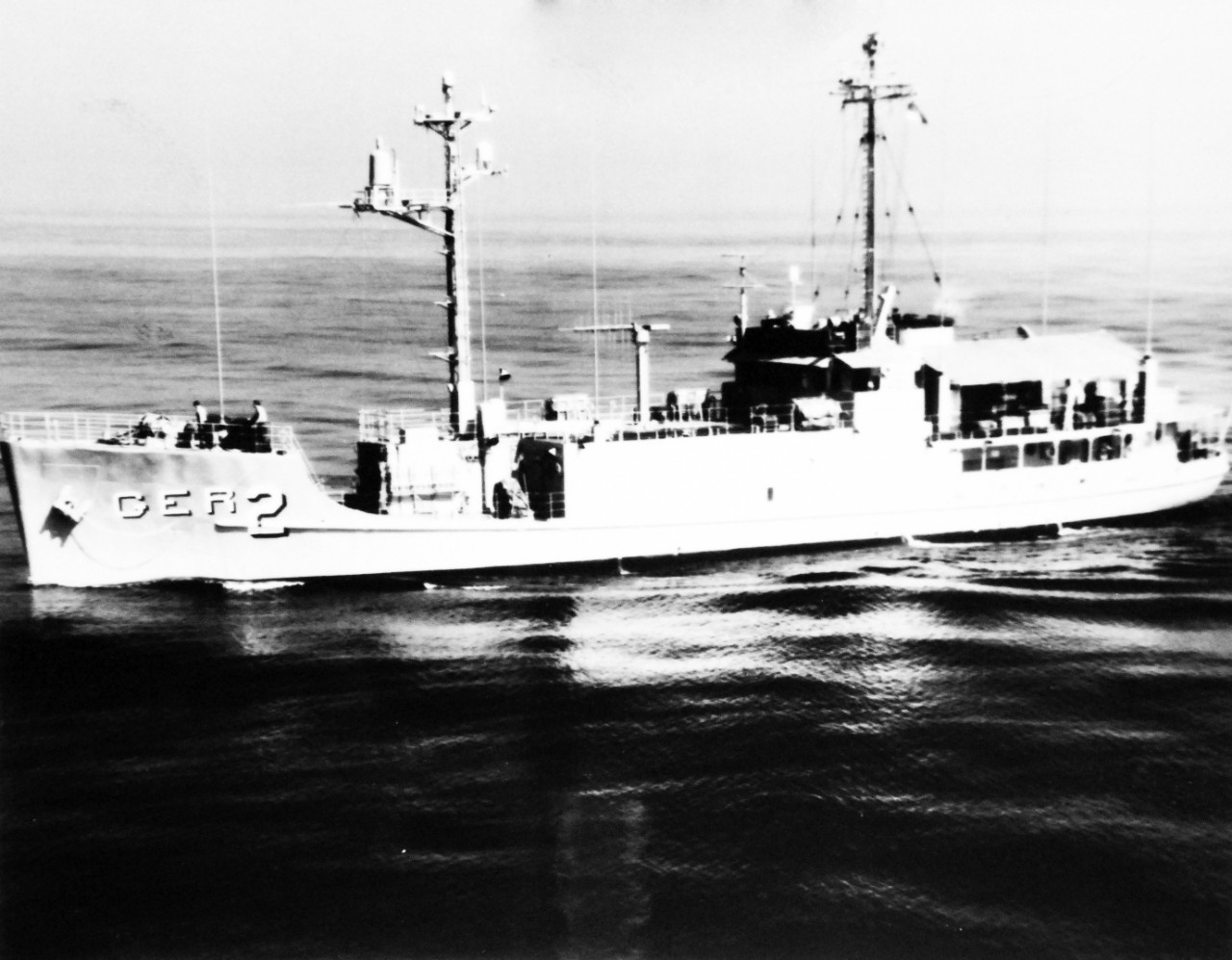 photo of Pueblo III (AGER-2) at sea