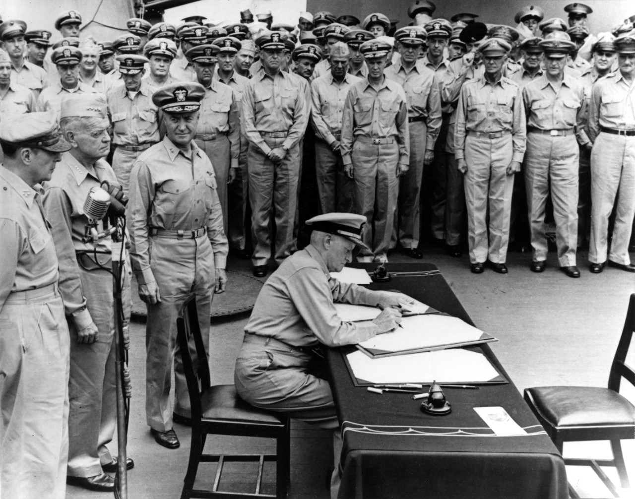 Surrender of Japan, Tokyo Bay, 2 September 1945.