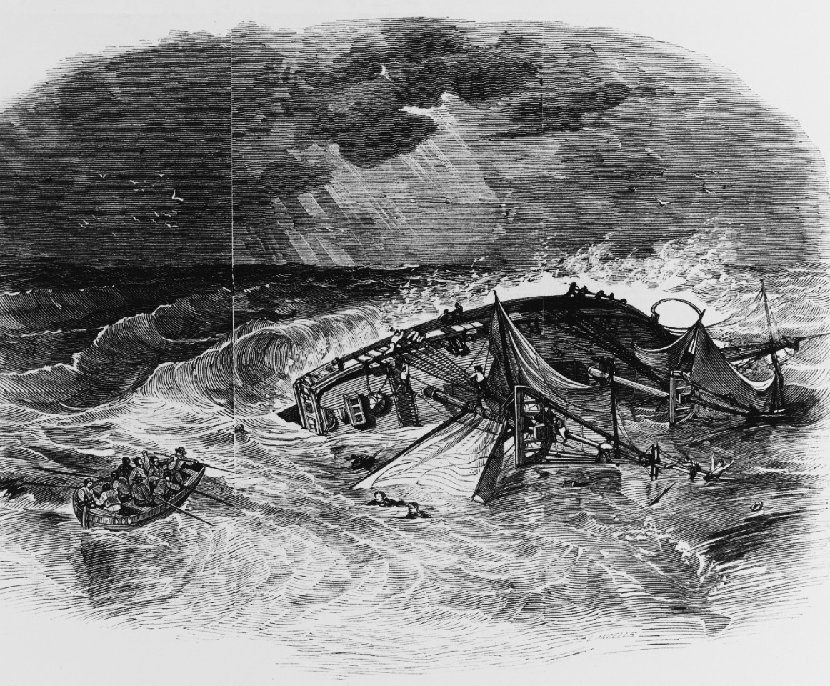 Photo #: NH 82556  Loss of USS Somers, 8 December 1846