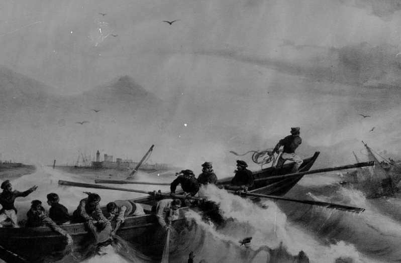 Photo #: NH 1117  Loss of USS Somers, 8 December 1846