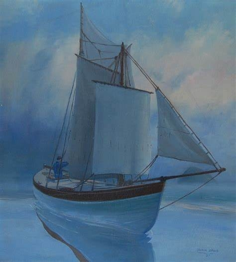 painting of Saginaw at sea