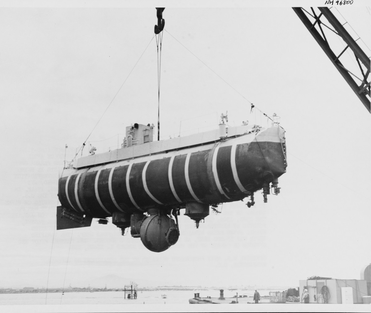 Photo #: NH 96800  U.S. Navy Bathyscaphe Trieste (1958-1963)