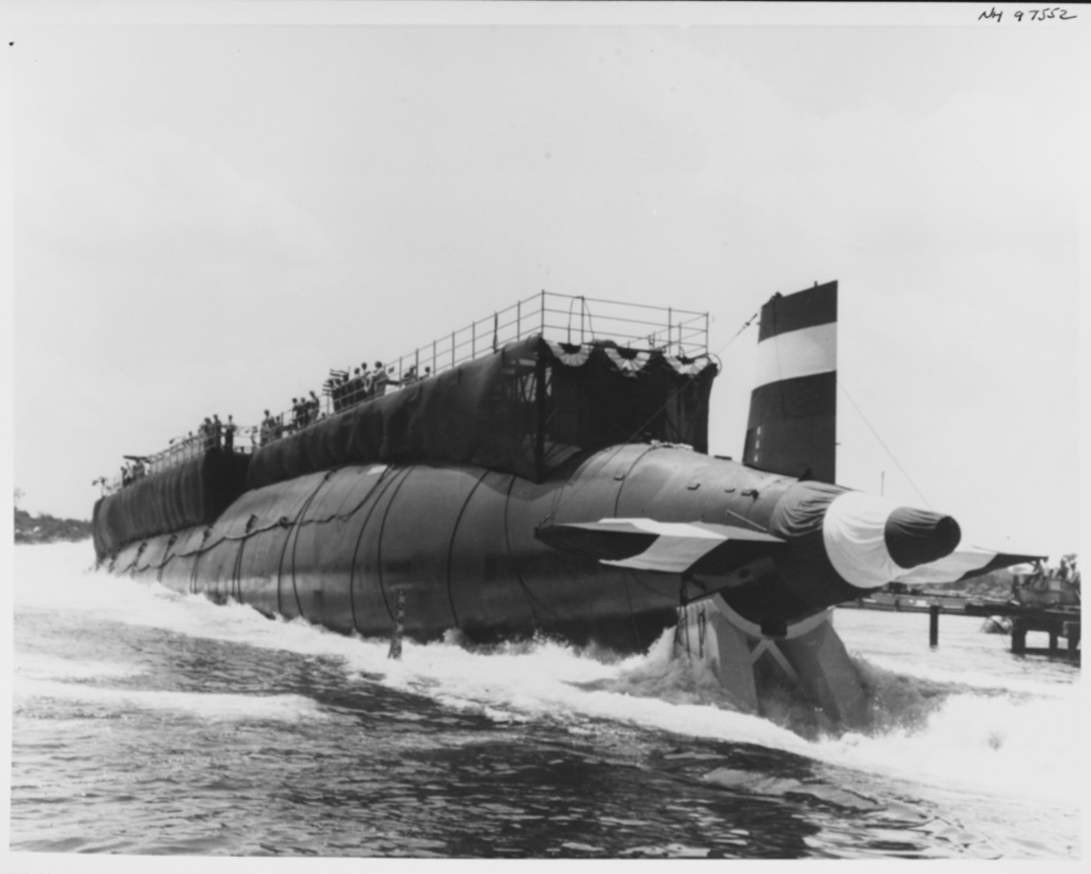 Photo #: NH 97552  USS Thresher (SSN-593)