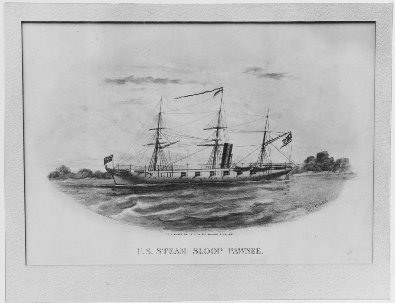 U.S. Steam Sloop PAWNEE