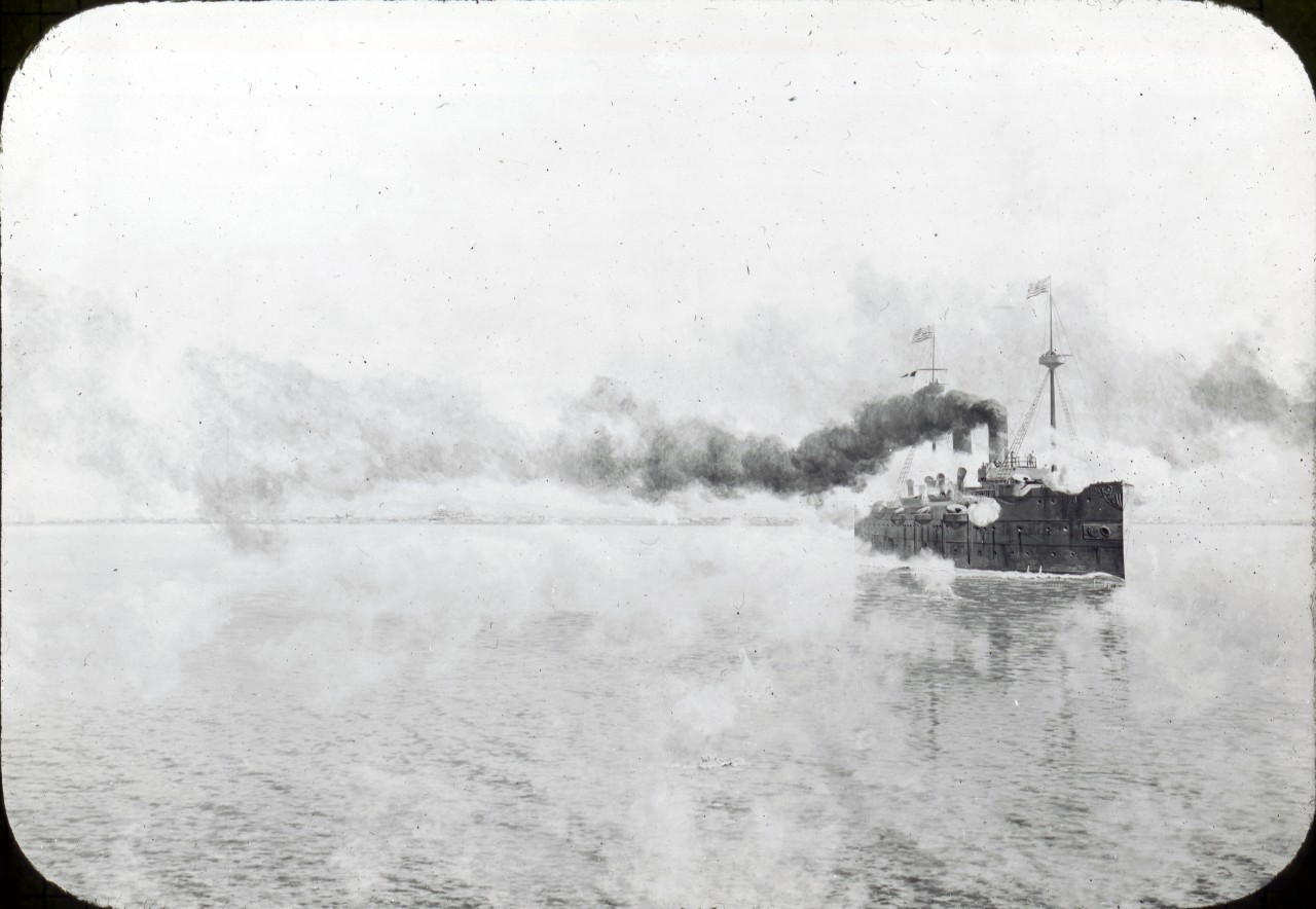 USS Baltimore in action