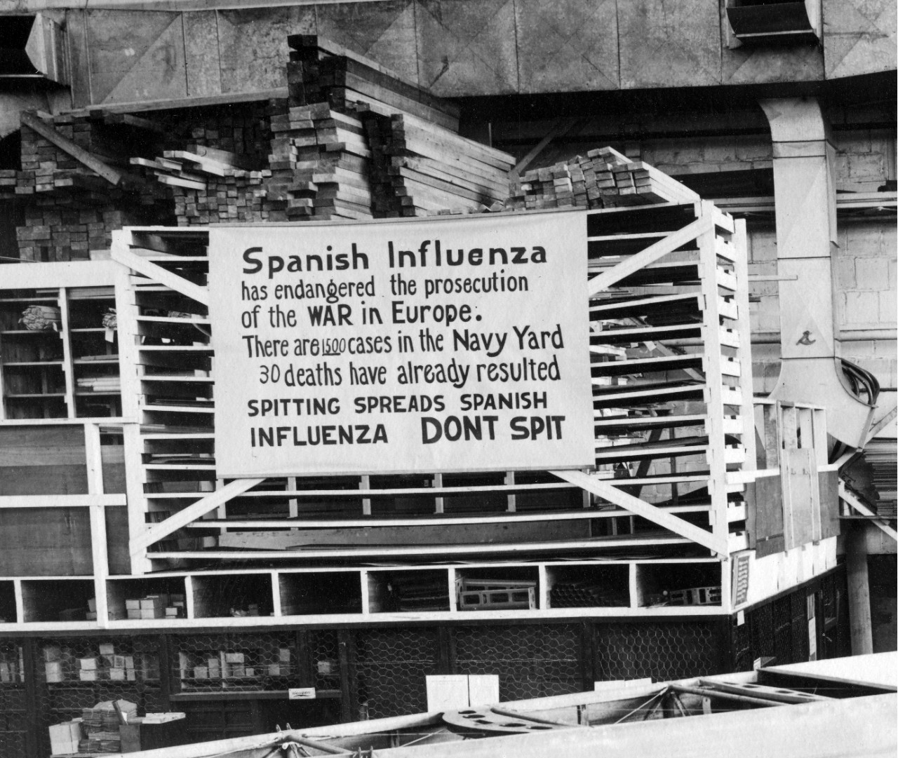 Photo #: NH 41731-A  Influenza Precaution Sign