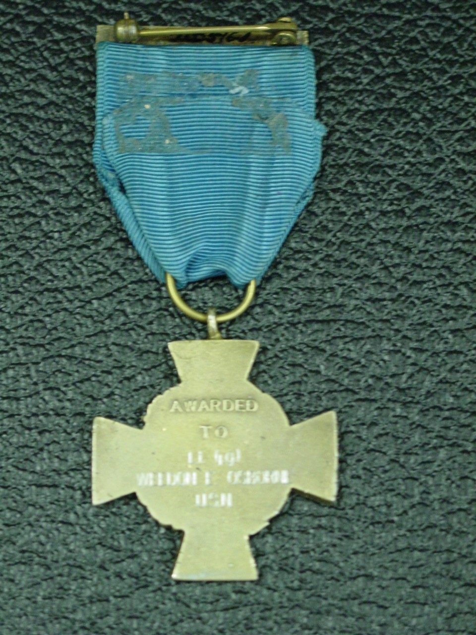 Weedon Osborne Medal of Honor back view