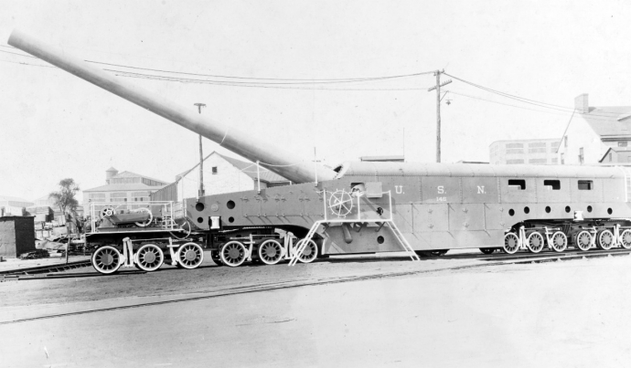 "Naval railway gun, 14""/50 gun, Mark I carriage"
