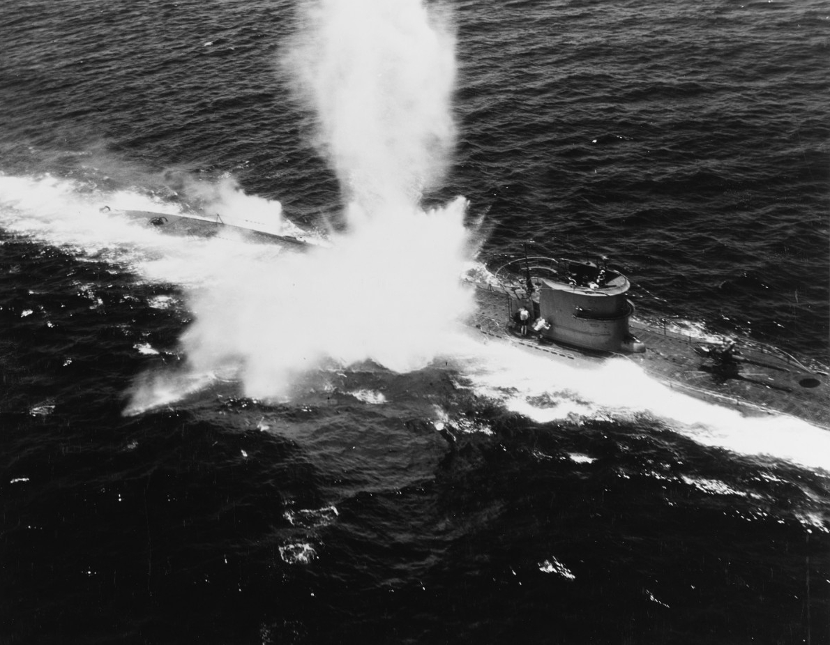 Blasting Nazi wolf packs:  planes of escort carrier save convoy, 16 July 1943.