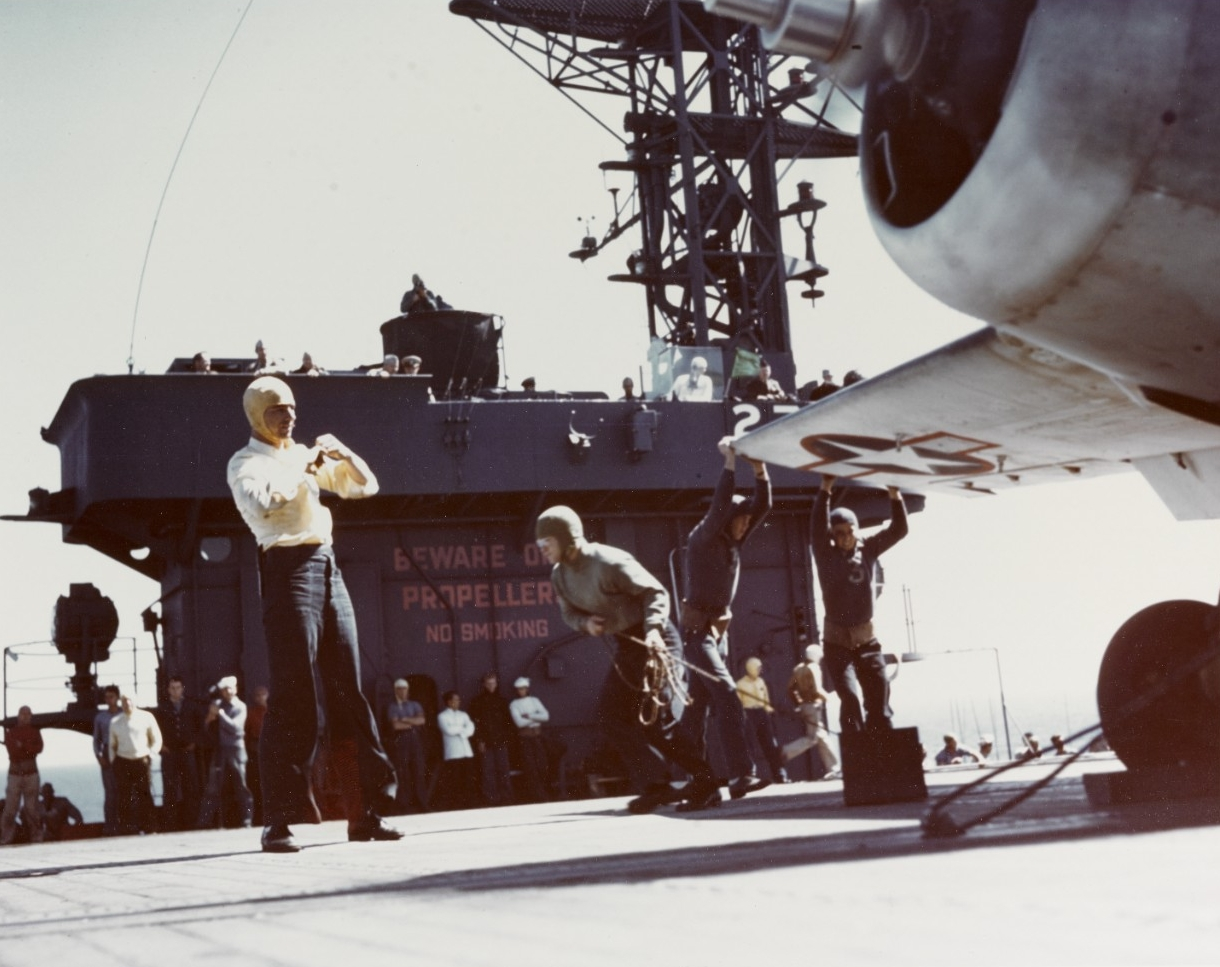 Escort Carrier (CVE) flight operations