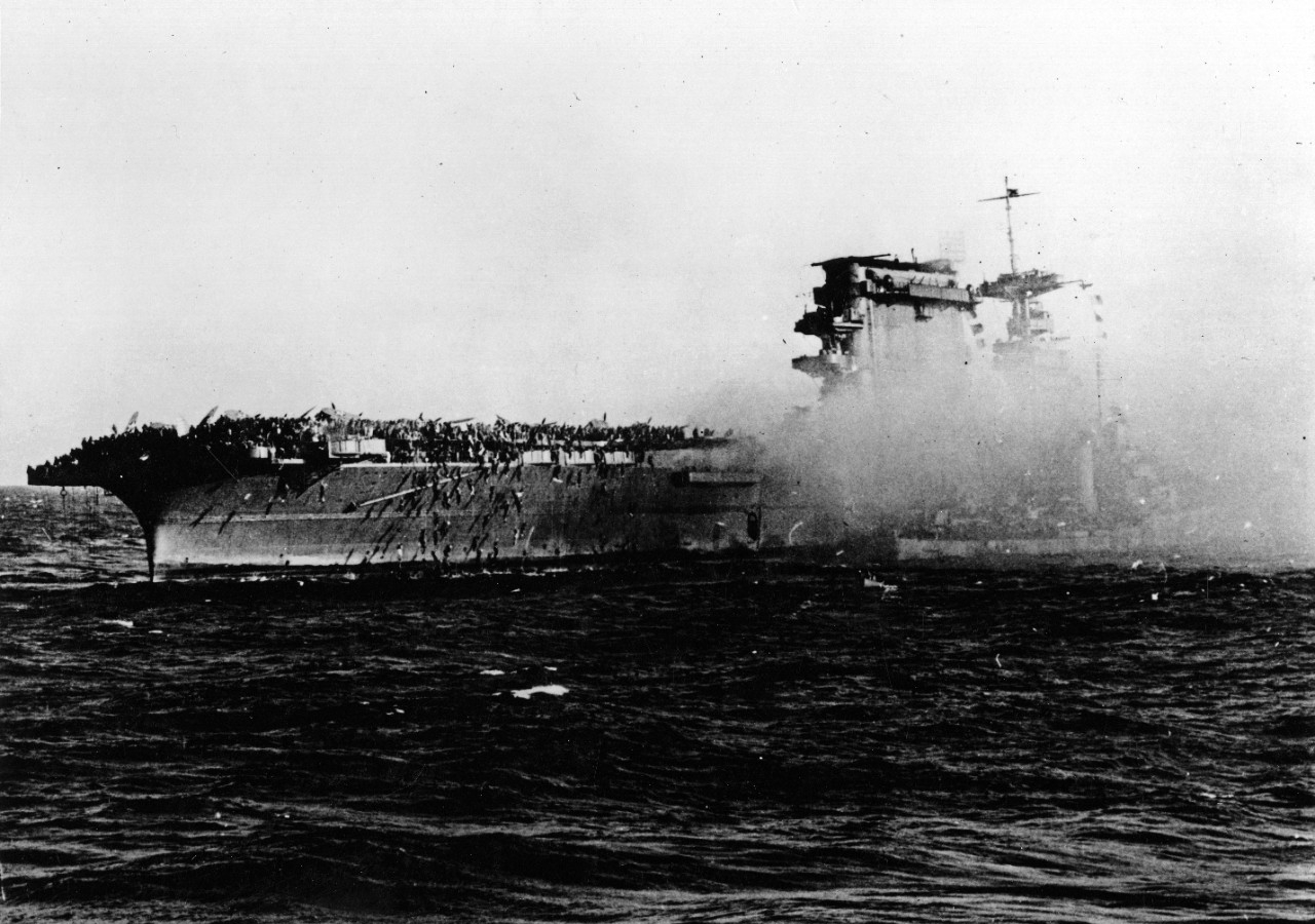 Photo #: 80-G-7398  Battle of the Coral Sea, May 1942