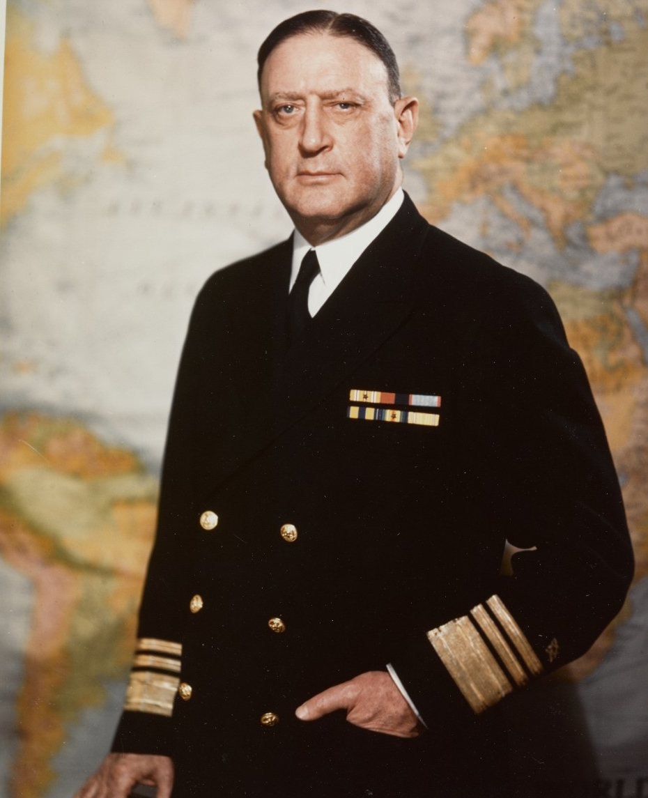 Vice Admiral Ben Moreell, (C.E.C.), USN., Chief of the Bureau of  Yards and Docks, circa mid-1945