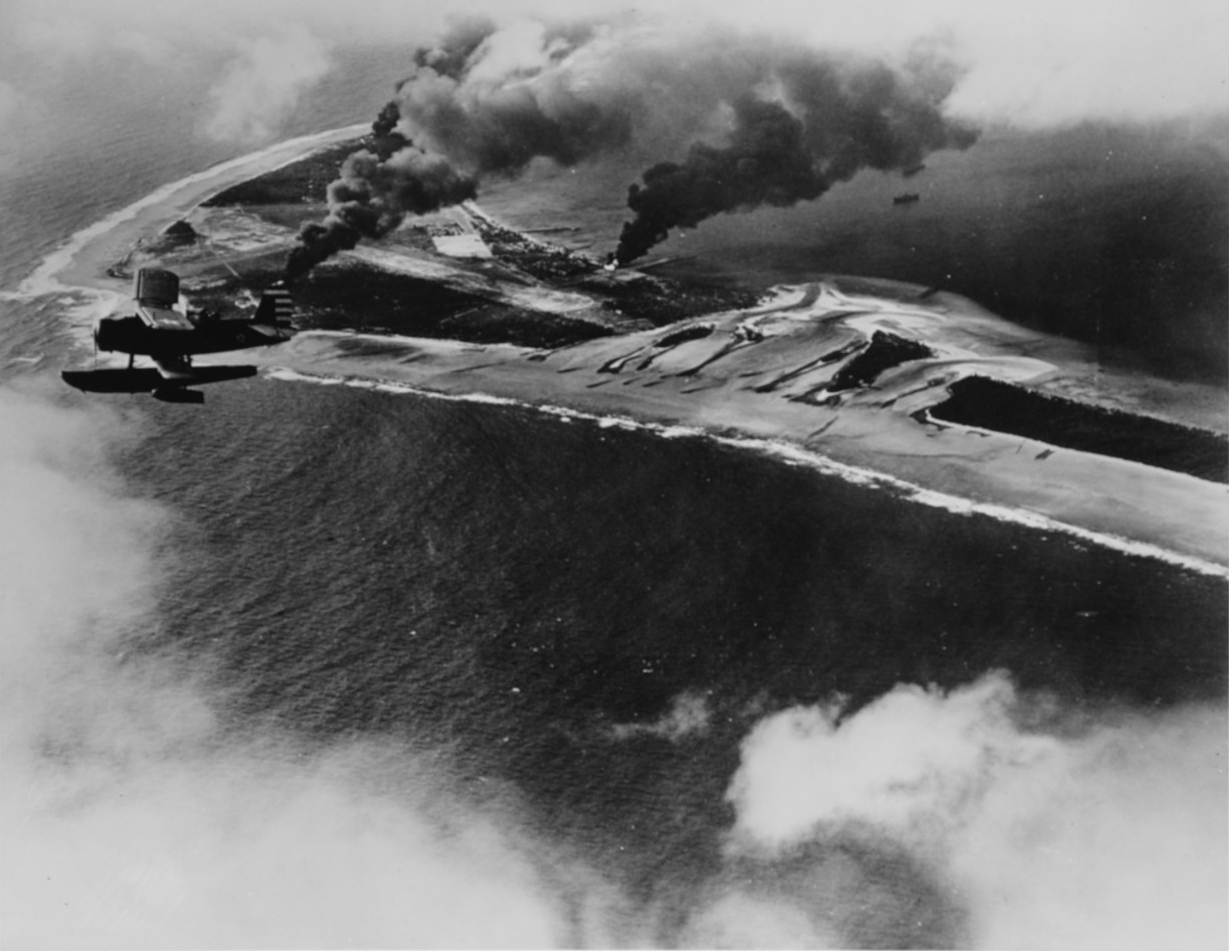 Photo #: NH 97593  Marshall and Gilbert Islands raid, February 1942
