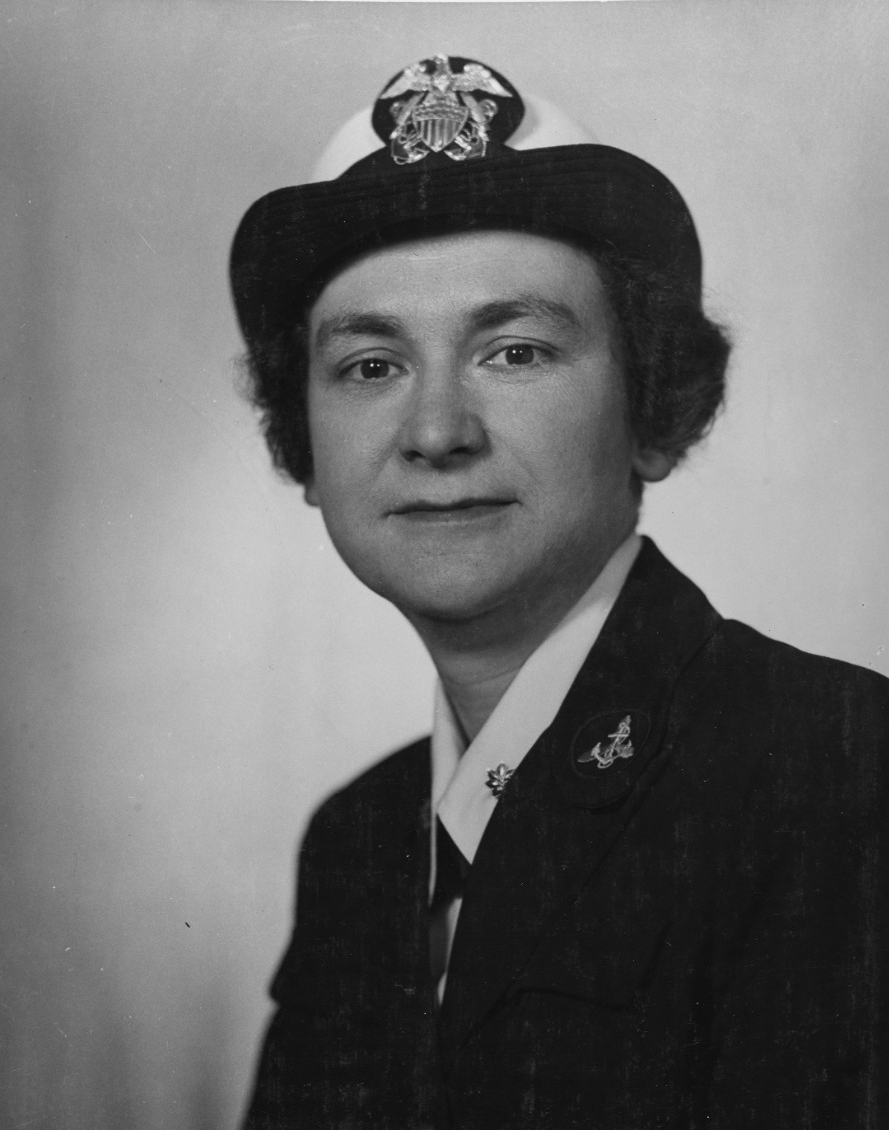 Photo #: 80-G-424329  Lieutenant Commander Mildred H. McAfee, USNR, Director of the WAVES