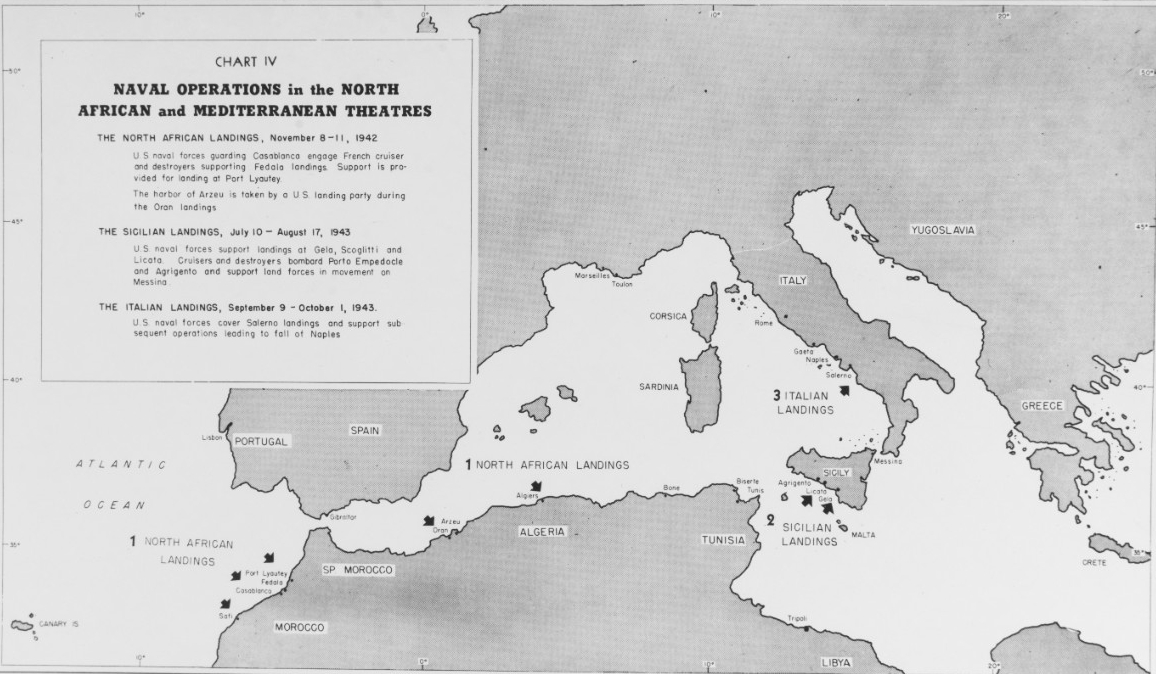 """Naval operations in the North African and Mediterranean theatres"""