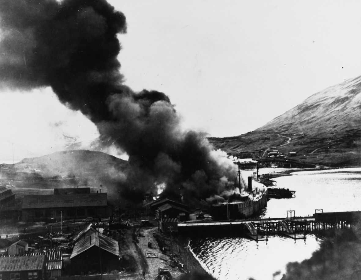Japanese attack on Dutch Harbor, Alaska, 4 June 1942