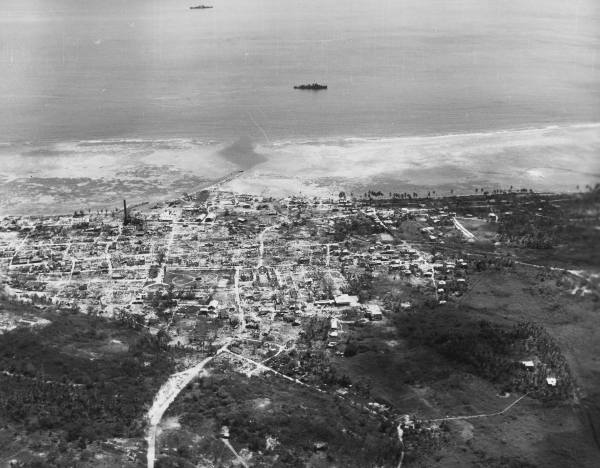Recapturing of Guam Invasion, July-August 1944.