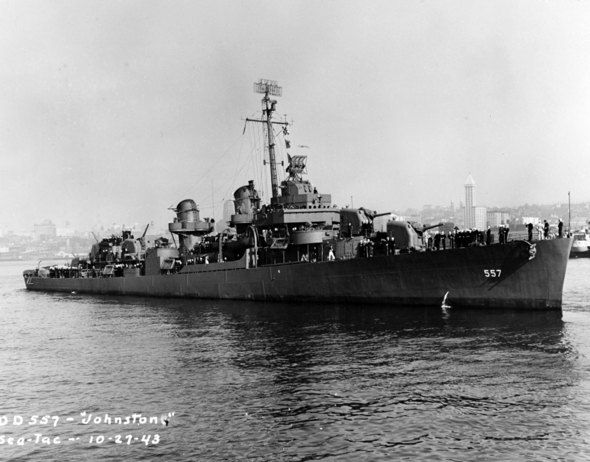Photo #: NH 63495  USS Johnston (DD-557)