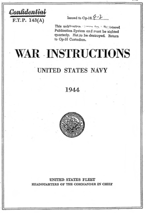 War Instructions United States Navy 1944 pdf download (28.5 MB)