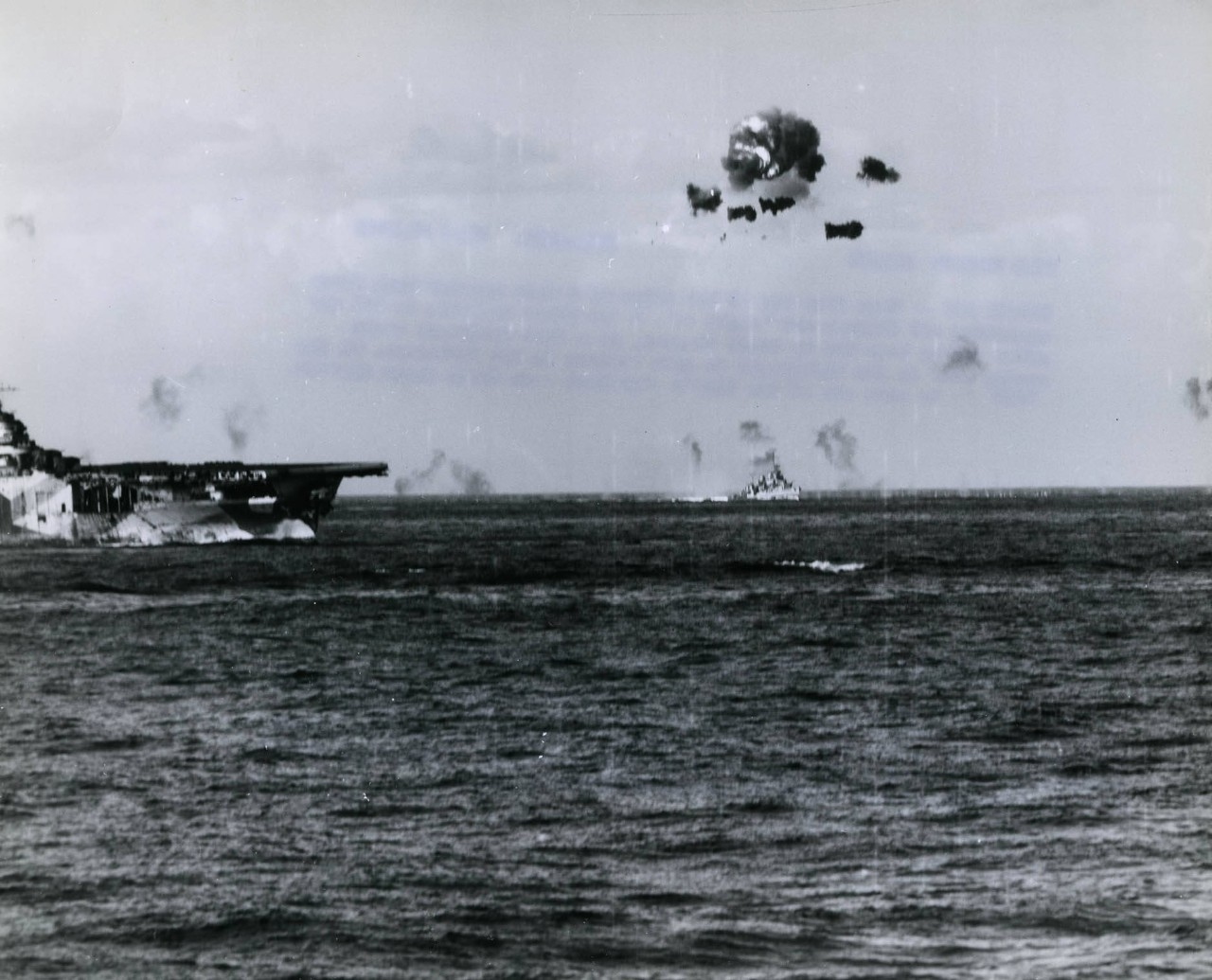 antiaircraft fire from ships of TF 38