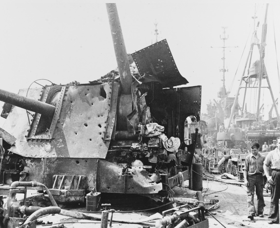 USS LAFFEY (DD-724) Severely Damaged