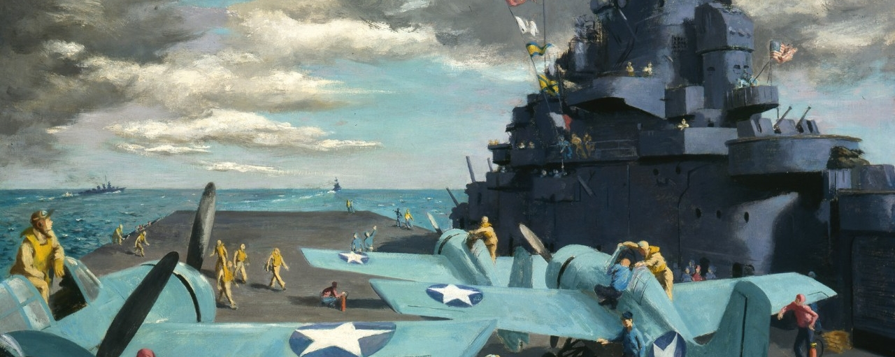 Accession # 88-159-KA. Task Force Hornets, painting by Lawrence Beall Smith.
