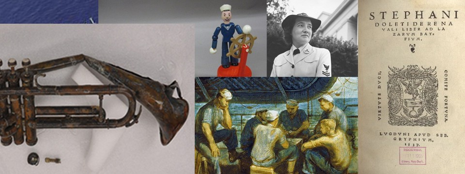 Montage of items from the NHHC collection