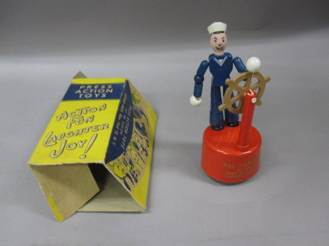 view of mac the sailor toy with box
